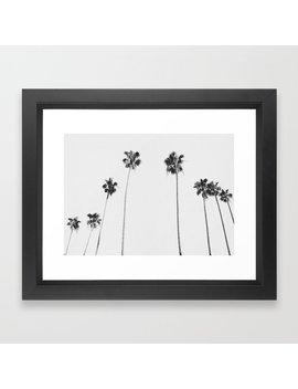 Black & White Palms Framed Art Print by