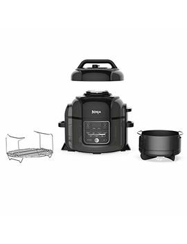 Ninja Foodi 1400 Watt Multi Cooker, Pressure Cooker, Steamer & Air Fryer W/ Tender Crisp Technology, Pressure & Crisping Lid, 6.5 Qt Pot (Op301), Black/Gray by Ninja