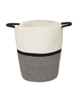 Monochrome Rope Laundry Bin by Linea