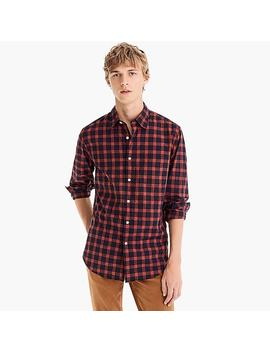 Stretch Secret Wash Shirt In Glen Plaid by J.Crew