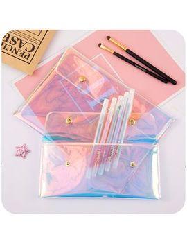Momoi   Iridescent Transparent Pencil Case by Momoi