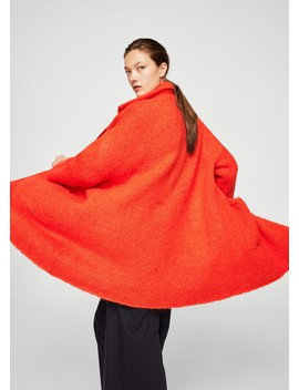 Mohair Knit Coat by Mango