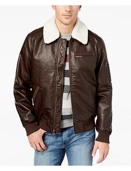 Members Only Men's Fleece Collar Bomber Jacket by Member's Only