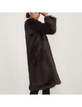 Reformation Britton Faux Fur CoatNwt by Reformation