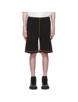 Black Light Drape Scuba Shorts by Our Legacy