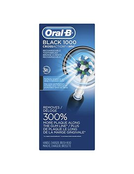 Oral B Black Pro 1000 Power Rechargeable Electric Toothbrush Powered By Braun by Oral B