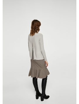 Ribbed Knit Sweater by Mango