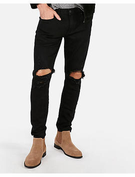Skinny Black Destroyed Stretch+ Jeans by Express