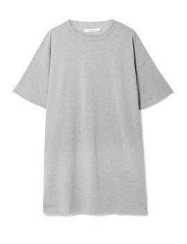Olive Oversized Organic Cotton Jersey Mini Dress by Ninety Percent