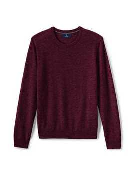 Men's Fine Gauge Cashmere Crewneck Sweater by Lands' End