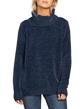 Cozy On Over Chenille Turtleneck Sweater by Volcom