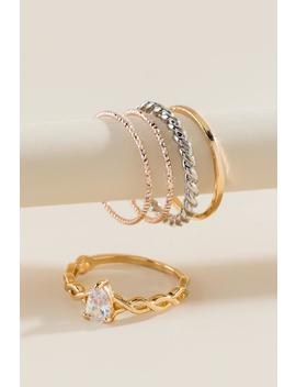 Dana Cubic Zirconia Ring Set by Francesca's
