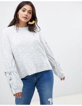 Vero Moda Curve Tie Cuff Knitted Sweater by Vero Moda
