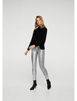 Skinny Coated Jeans by Mango