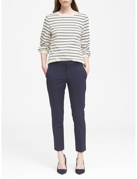 Petite Avery Straight Fit Washable Wool Blend Pant by Banana Repbulic