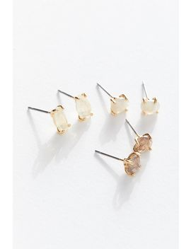 Moonstone Post Earring Set by Urban Outfitters