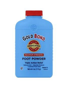 Gold Bond Maximum Strength Medicated Foot Powder, 4.0 Oz by Gold Bond