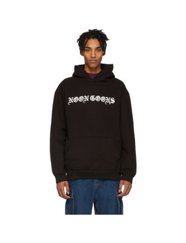 Black Old English Hoodie by Noon Goons