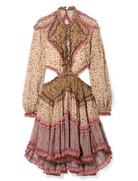 Juniper Open Back Cotton And Silk Blend Crepon Dress by Zimmermann