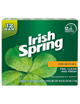 Irish Spring Original, Deodorant Bar Soap, 3.7 Ounce, 12 Bar Pack by Irish Spring