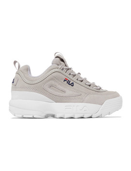 Disruptor Ii Premium Logo Embroidered Suede Sneakers by Fila
