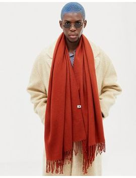 Collusion Blanket Scarf In Rust by Collusion