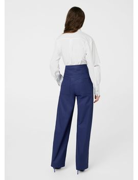 Seams Waist Coated Trousers by Mango