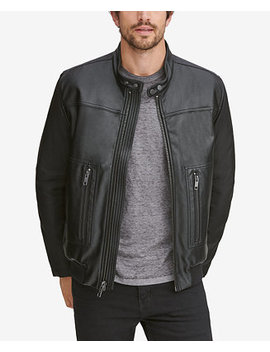 Men's Griffith Blocked Racer Jacket by Marc New York