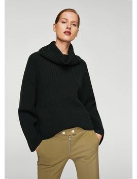 Zipped Straight Trousers by Mango