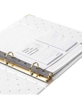 Russell + Hazel Blush Mini Three Ring Binder by Container Store