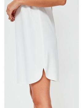White Cami Crepe Shift Dress by Missguided