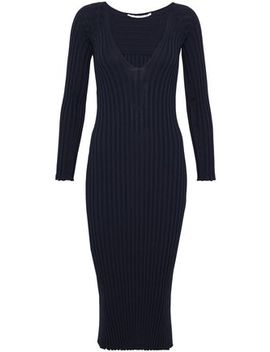 Ribbed Knit Midi Dress by Rosetta Getty