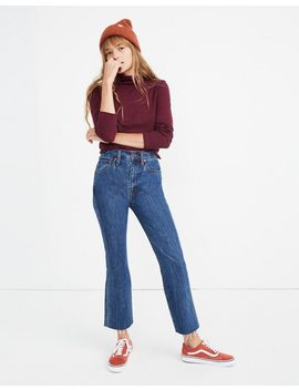 Tall Rigid Demi Boot Crop Jeans In Mac Gill Wash by Madewell