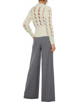 Open Cable Knit Alpaca Blend Sweater by Philosophy Di Lorenzo Serafini