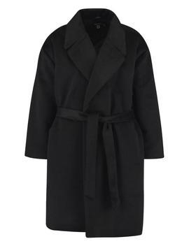 Plus Belted Wool Look Coat by Boohoo