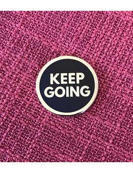 Keep Going Lapel Pin   Gold by Etsy