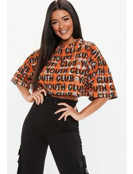 Stone Youth Club Plaid Oversized Crop Top by Missguided