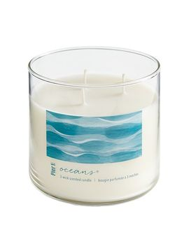Clear Filled 3 Wick Candle by Oceans® Collection