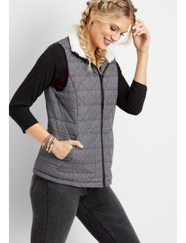 Herringbone Puffer Vest by Maurices