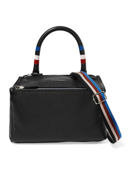 Pandora Striped Textured Leather Shoulder Bag by Givenchy