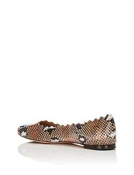 Lauren Stamped Leather Flats by Chloé