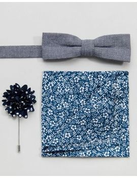 Peter Werth Bow Tie Pocket Square & Boutoninere by Peter Werth