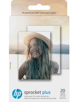 """Sprocket Plus Zink Photo 2.3"""" X 3.4"""" 20 Count Paper   White by Hp"""