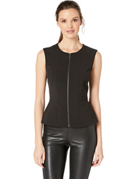 """Jeslyn"" Sleeveless Top With Zipper Front by Bcbgmaxazria"