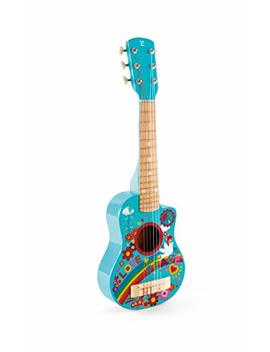Hape Kid's Flower Power First Musical Guitar, Turquoise by Hape