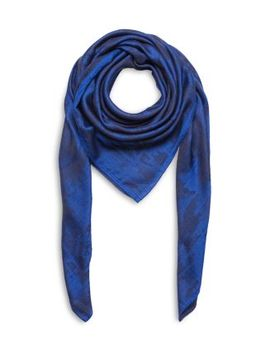 Wool & Silk Camouflage Scarf by The Kooples