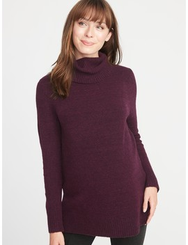 Maternity Relaxed Turtleneck Tunic Sweater by Old Navy