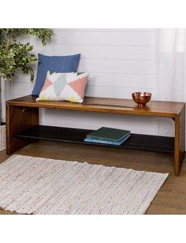 Loon Peak Arocho Rustic Solid Reclaimed Wood Storage Bench & Reviews by Loon Peak