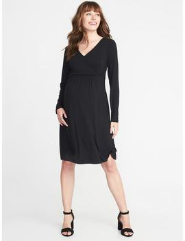 Maternity Cross Front Waist Defined Dress by Old Navy