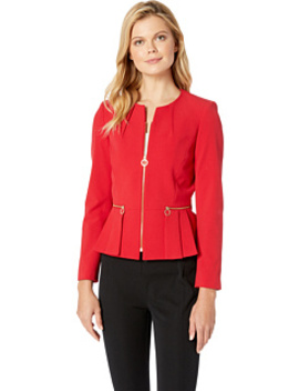 Peplum Zip Jacket by Tahari By Asl